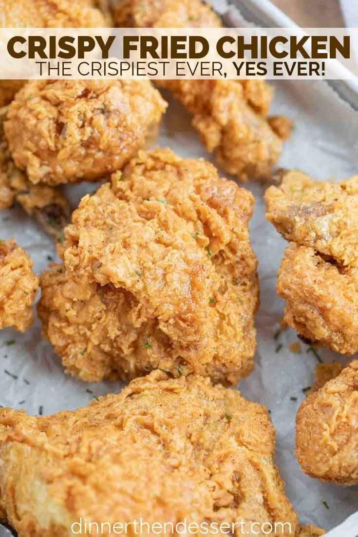 Super Crispy Fried Chicken Made With Buttermilk Chicken Hot Sauce And Seasoned Flour Is Crispy Fried Chicken Best Fried Chicken Recipe Fried Chicken Dinner