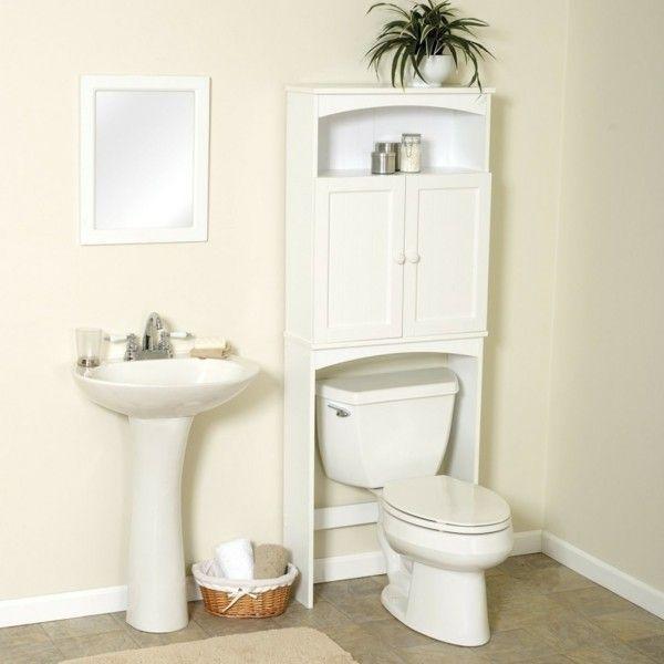 Badezimmer Ideen für kleine Bäder dachschraege wandschrank   Bathroom storage, Simple bathroom ...