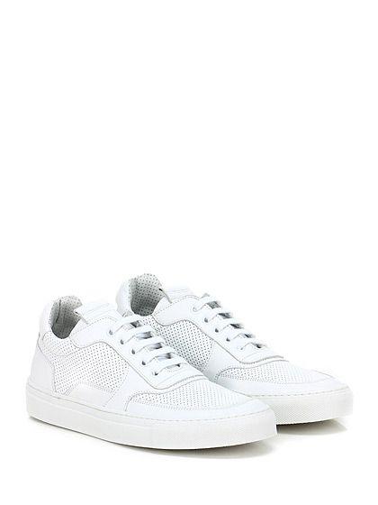 Mariano Di Vaio - Sneakers - Donna - Sneaker in pelle e pelle micro forata con suola in gomma. Tacco 25. - BIANCO - € 198.00