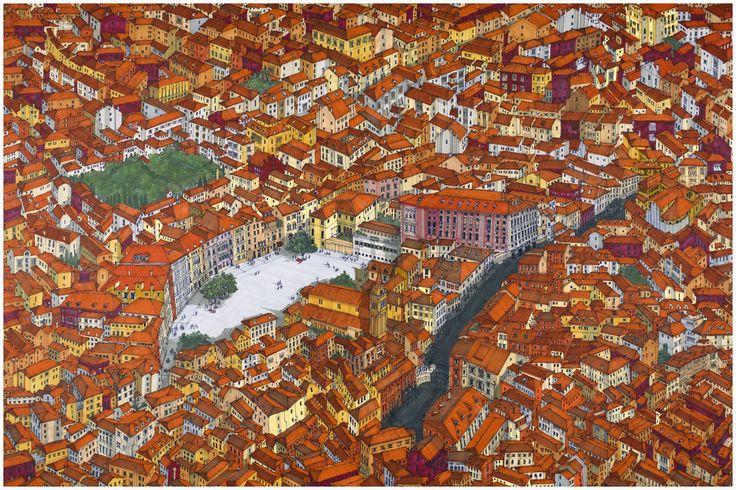 Campo San Polo, Venice. #Venice #Cityscape #Architecture #Art #Drawing #Prints