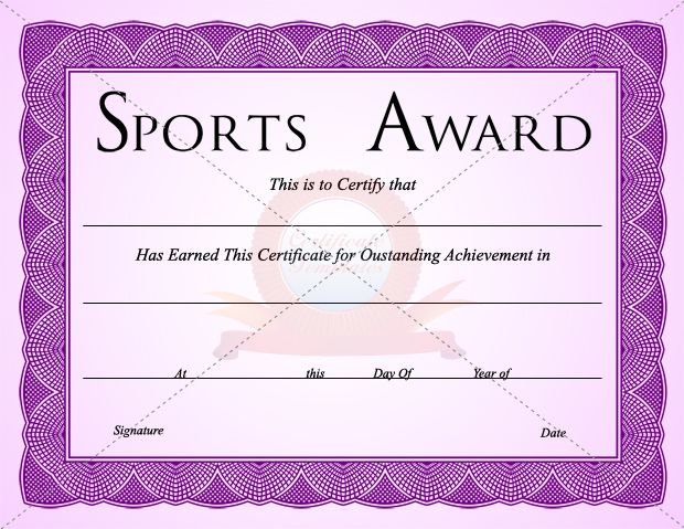 7 best SPORTS CERTIFICATE TEMPLATES images on Pinterest ...