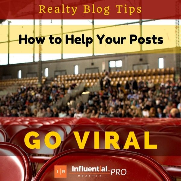 Real Estate Pros: Latest from Influential Realtor - 'How to Help your Realty Blog Posts Go Viral'. From your blog title, to evergreen content and value. See how you can help your blog spread on social media. http://bit.ly/1fFCDaB   #realestate #marketing #blogging
