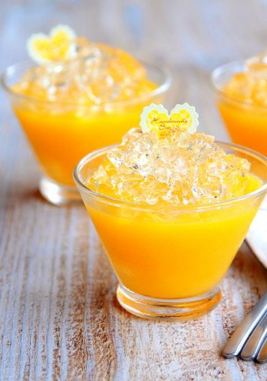 ♡混ぜて冷やして超簡単♡オレンジレモンのキラキラゼリー♡ by Mizuki | cotta