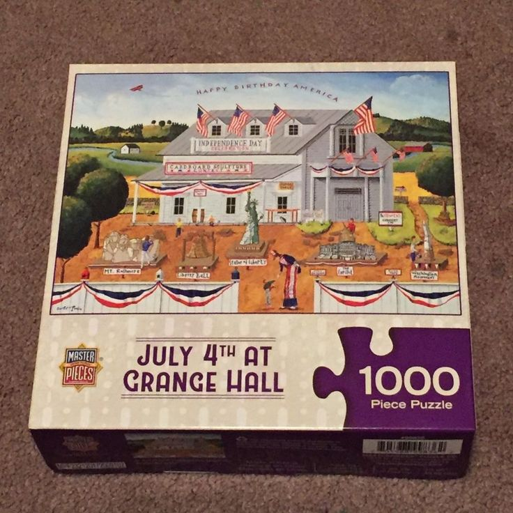 Master Pieces: July 4th at Grange Hall Jigsaw Puzzle 1000 Piece (Hobbies, 13+) #MasterPieces
