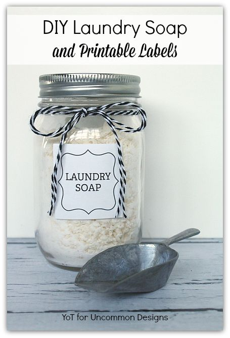 Diy Laundry Soap And Free Printable Labels Organize It