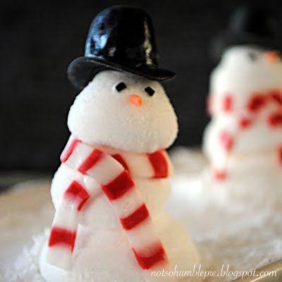 "Homemade Snowman ""Peeps""."