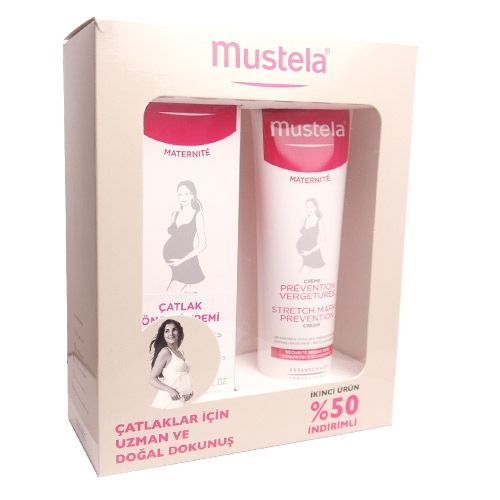 Mustela Maternite Stretch Marks Prevention Cream 2x150ml (Kofre) | 119,85 TL | Dermoeczanem.com