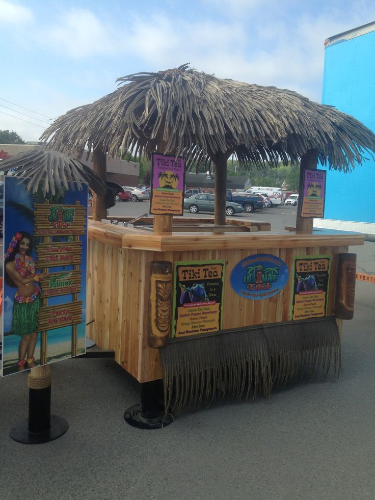 Custom built Tiki Tea concession trailer. ultimatetiki.com