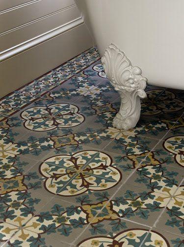 quatrefoil floor tile - marrakech