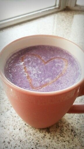 Homemade Purple Sweet Potato Almond Milk Latte