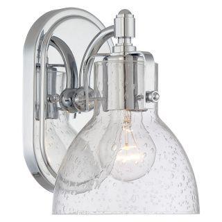 Minka Lavery 5721 1 Light Height Bathroom Sconce With Clear Seeded Shade Fr  Chrome Indoor Lighting Bathroom Fixtures Bathroom Sconce