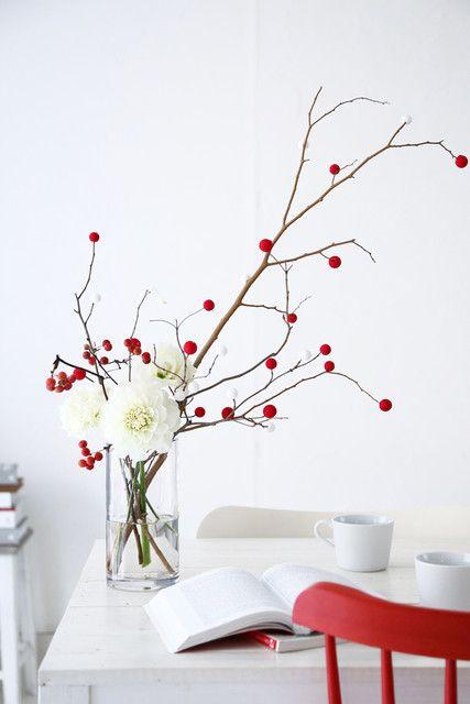 ダイソーで買える紅白花餅ピックでできる正月飾り