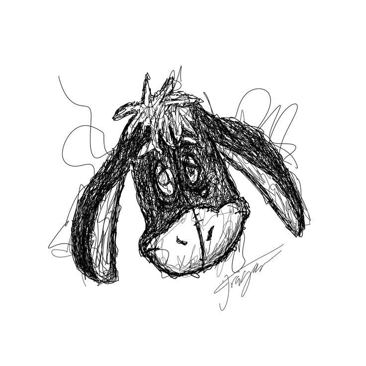 Donkey scribble art