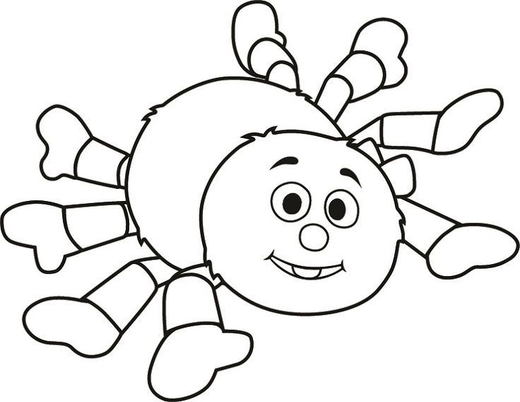 Print Off Coloring Pages Incy Wincy Spider Learning