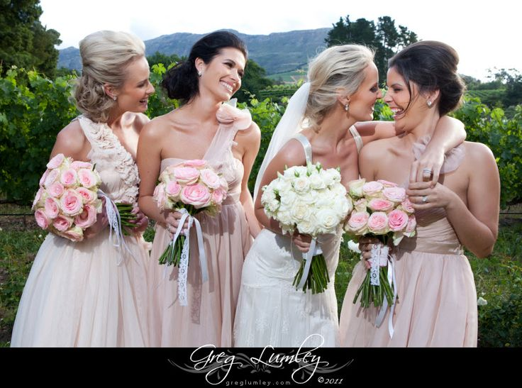 Gorgeous bridesmaids at Moelenvliet Cape Town South Africa