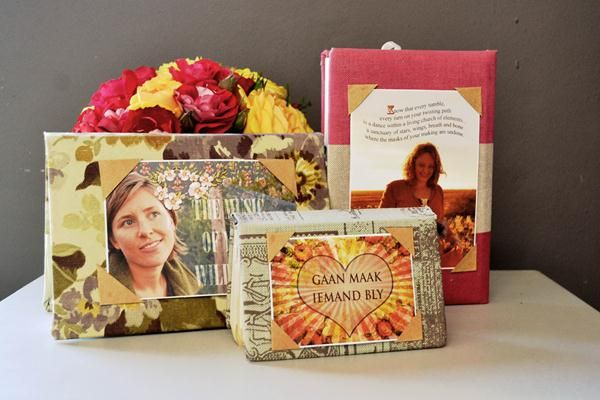 Make your own photo frames with old diaries! #photoframes #fotorame #photos