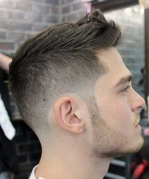 Short hair is going to be in style for guys every time. Most men want their hair to be cut short on the sides and the back one way or another, and this is