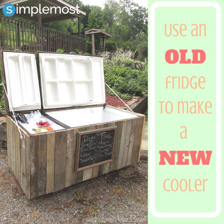 Recycle your old refrigerator into a fun, outdoor cooler.  This DIY project will be sure to take your backyard to a whole new level.