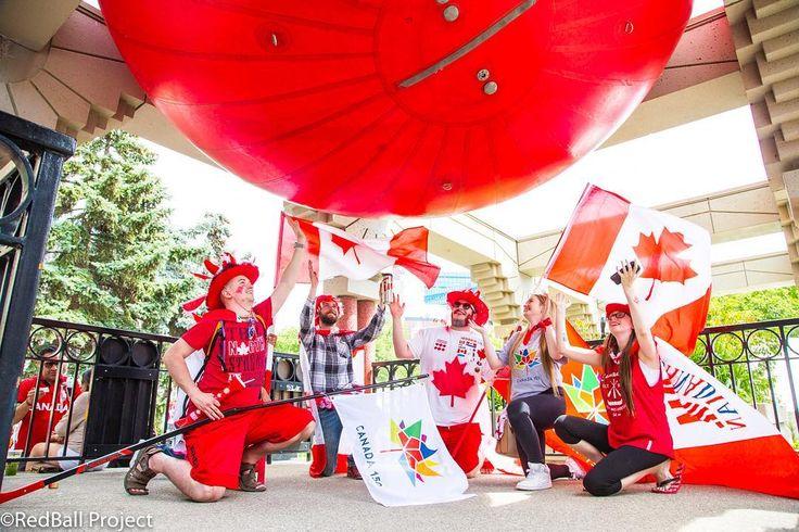 THANK YOU CALGARY!!!! we had an amazing time joining you for Canada Day!  This Crew is just a sample of the vibes. Peace to everyone . #ocanadayyc #canada150 #redballproject . . . . . #calgary #yyc #tourismcalgary #calgarypublicart #calgaryarts  #cityofcalgary #capturecalgary #yycnow #calgarybuzz #calgaryism #calgaryevents#sharecalgary #yycliving #fbpost #publicart #streetart #OCanadaYYC #Canada150 #OlympicPlaza #yycparks @yycarts @downtowncalgary @CalgaryParks @EWoolleyWard8 @OlympicPlaza…