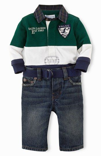 Ralph Lauren Stripe Polo & Jeans (Baby Boys) available at #Nordstrom