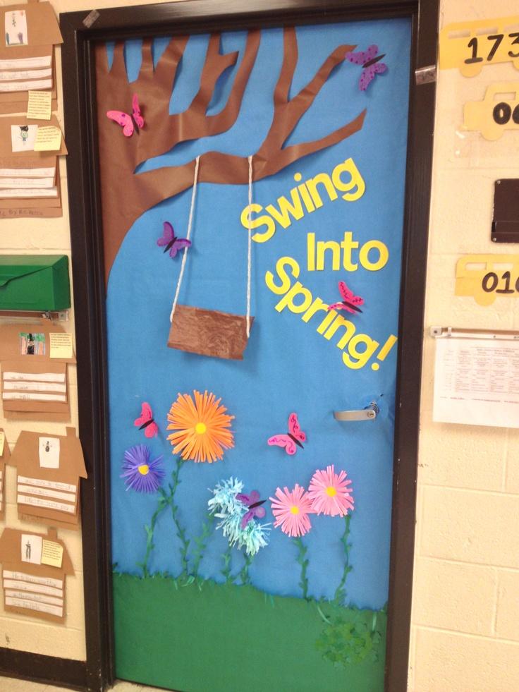 Classroom Decoration Ideas Zip : Spring door rhyming kindergarten classroom doors