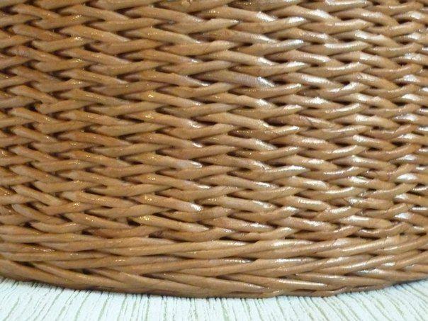 minta рисунок косичка одинарными трубочками. Плетение из газет