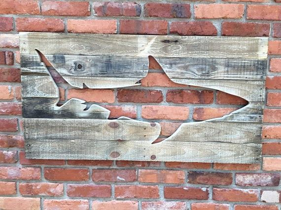 This is a wall hanging Shark cutout, great decorating and crafting. Made from recycled chemical free heat treated pallet wood. Note other silhouettes can be made note your choice at check out. Comes ready to hang.