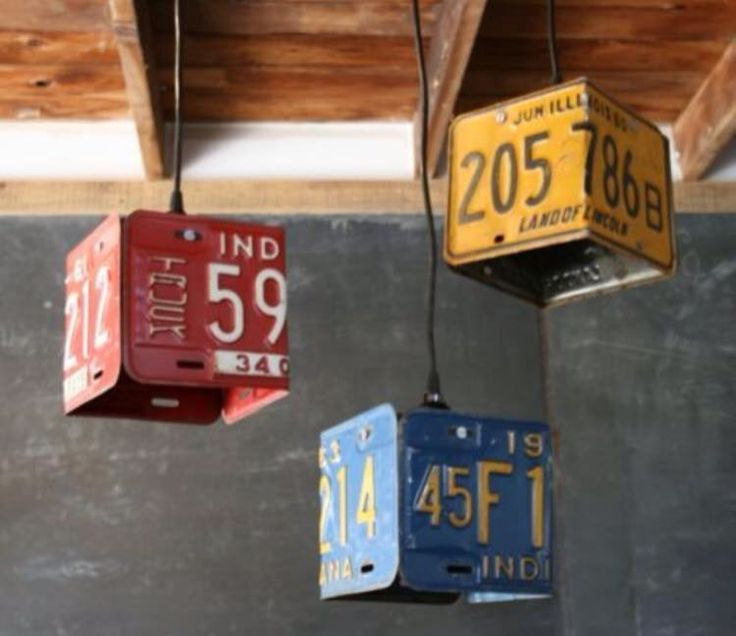 Old license plate lamp