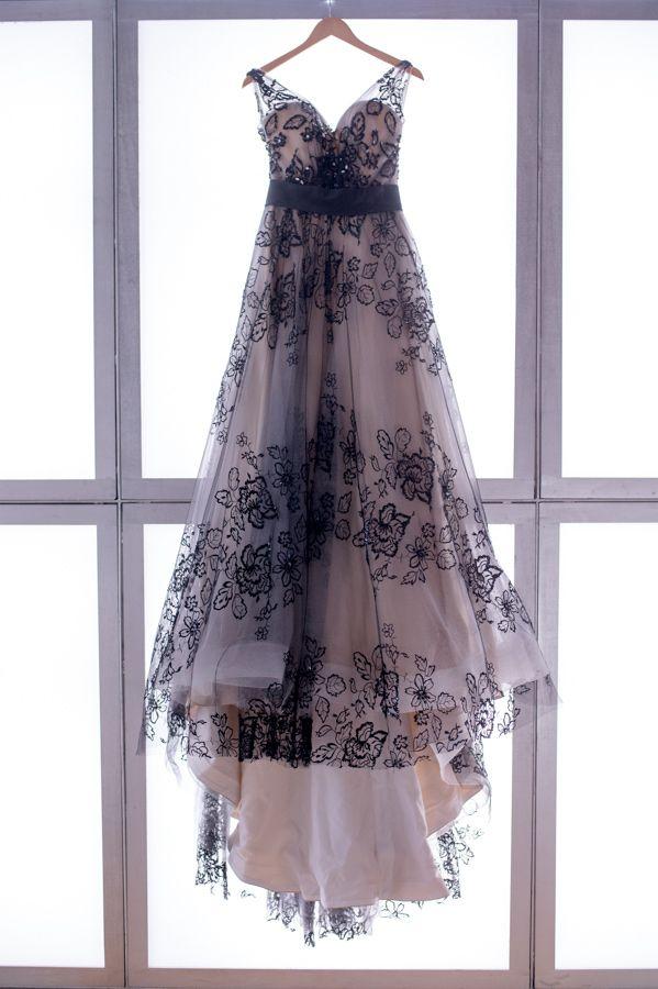 black lace wedding gown // photo by Darrin Hackney Photography // http://ruffledblog.com/notwedding-wichita
