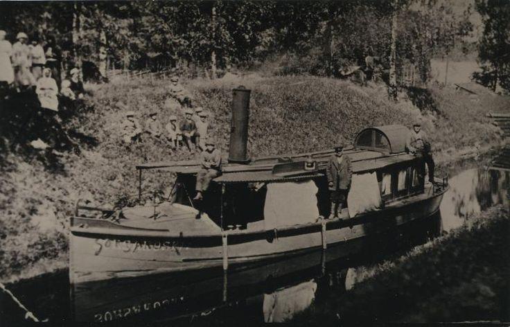 Sorsakoski, Hackmanin arkisto #höyrylaivat #steamboat #Sorsakoski