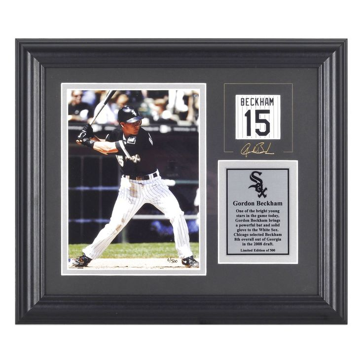"Gordon Beckham Chicago White Sox Fanatics Authentic Framed 6"" x 8"" Photograph with Facsimile Signature & Plate - $9.49"