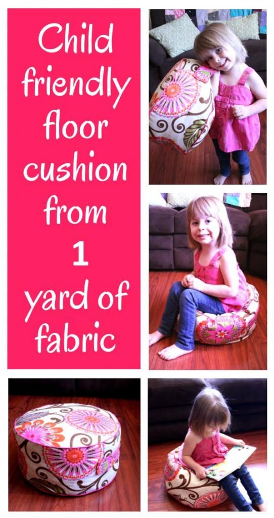 The perfect floor cushion! @Jamie Hammond will show you how to make one from just one yard of @HGTV HOME fabric! #awesome #floorcushion #loveit