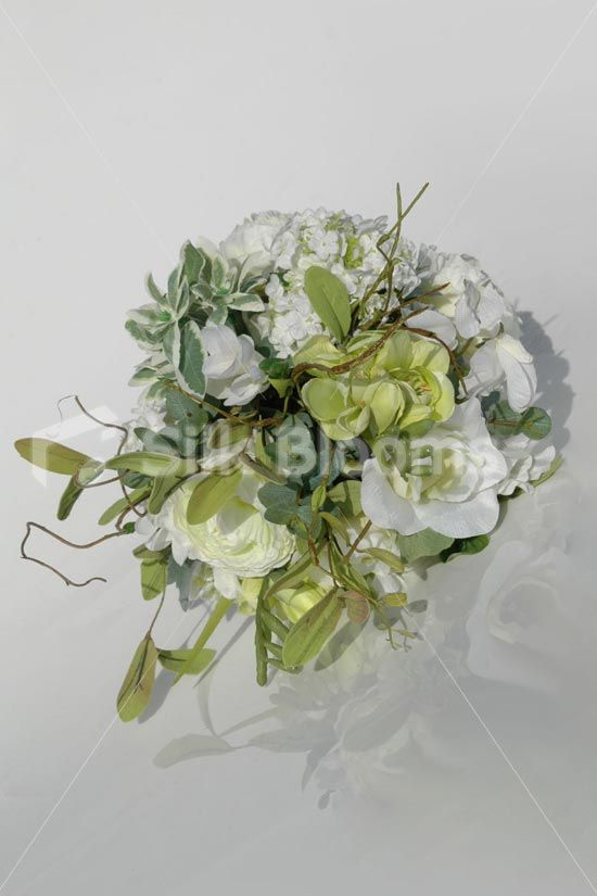 Rustic Bridesmaid Bouquet w/ Ranunculus, Freesia & Lisianthus