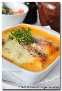 Cannelloni med kyckling - Pastarecept