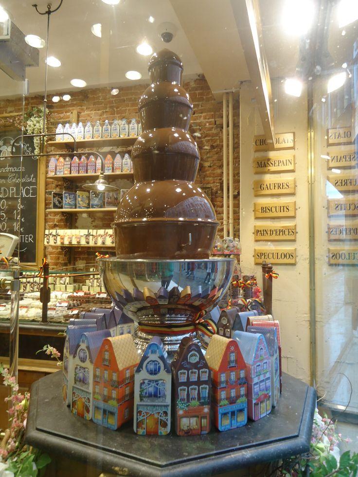 Fuente de chocolate en Bruselas.