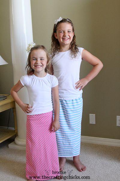 Kids maxi dress tutorial