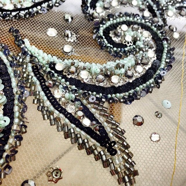 Our kind of Mondays!! #lenour #handmade #embroidery #cashmere #pattern #embellished #beads #sequin #swarovski #crystals #f4f #lebanese #fashion #designer #fashionista #stylish #glam #luxury #hautecouture #middleeast #europe #london #nyc #uae #qatar #kuwait #ksa #artwork #needle #ilovemyjob