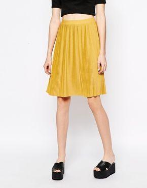 Enlarge Monki Jersey Pleated Skirt