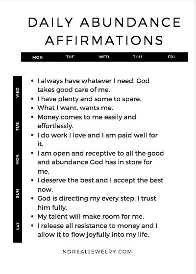 10 Affirmations That Helped Me Overcome My Lack Mindset + Manifest Abundance