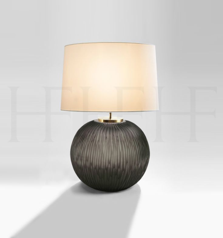 Gobi Smoke Grey Round Table Light From Hector Finch