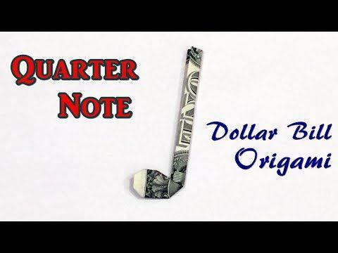 (8) Dollar Bill Origami Quarter Note Easy Instruct…