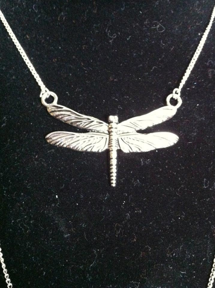 $15 Single Silver Dragonfly Necklace