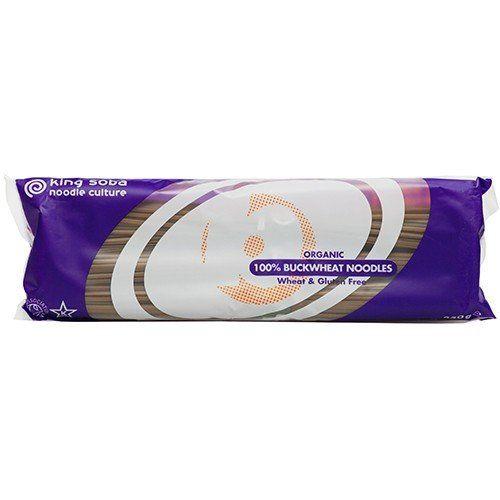 King Soba Organic Sweet Potato and Buckwheat Noodles 250 g (Pack of 6)