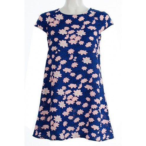 Sophia Blue And Coral Floral Print Shift Dress LADIES DRESS BUY IT NOW £15.00 AT www.fuchia.co.uk