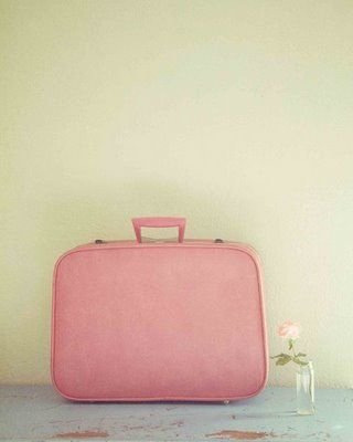 Pink suitcase might help to stop and smell the roses