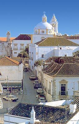 Tavira  Portugal  (with some monuments with moorish inspiration)