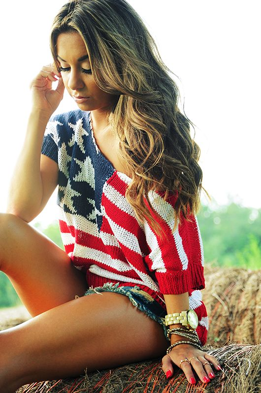 I've always thought it was silly to buy clothes like these because you could only wear this on the 4th of July, but I could see myself wearing this more than once during the summer.