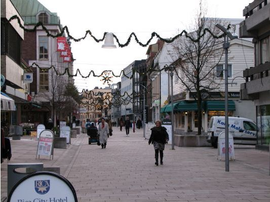 The main street in Fredrikstad, Norway. More photos: Fredrikstad pl