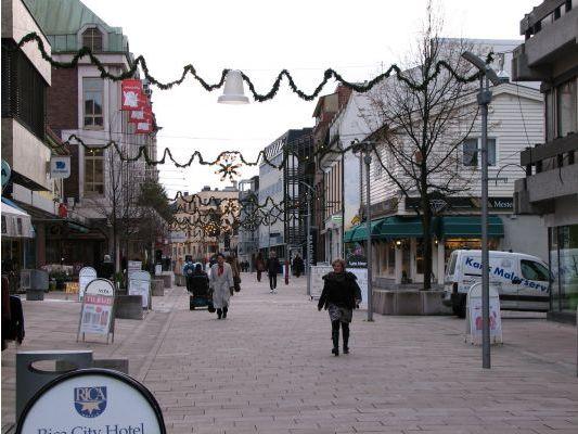 The main street in Fredrikstad, Norway. More photos: Fredrikstad pl