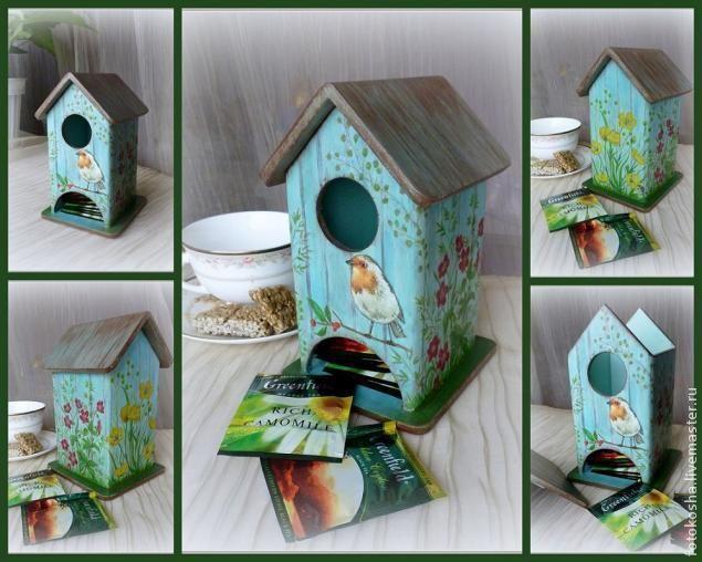 Делаем чайный домик с дощатой крышей - Ярмарка Мастеров - ручная работа, handmade